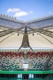Stadium. Roof over colorful tribunes. Stock Images