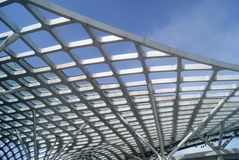 The stadium roof structure Royalty Free Stock Images