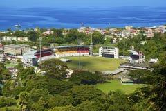 Stadium in Roseau, Dominica stock photography