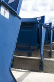 Stadium Row. Rows of seats in a sports stadium Royalty Free Stock Photo