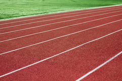 Stadium rubber running tracks Stock Images