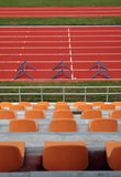 Stadium running track Royalty Free Stock Photography