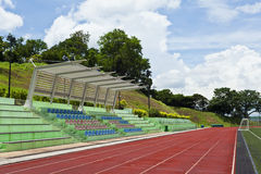 Stadium with running track Royalty Free Stock Image
