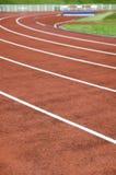 Stadium and running track Stock Photos
