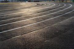 Stadium running track. Stock Photo