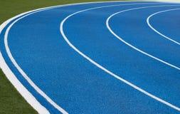Stadium running track blue color Bangkok Thailand Stock Image
