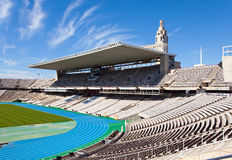 Stadium. Running track Royalty Free Stock Photography