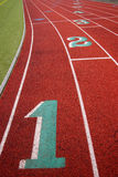 Stadium Running Track Lane Markers Sports Field Number Markings Royalty Free Stock Photos