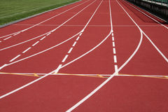 Stadium running tracks Stock Image