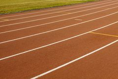 Stadium with running tracks Stock Photography