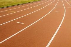 Stadium with running tracks. A stadium with running tracks in a University Stock Photo