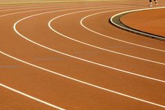 Stadium with running tracks Stock Image