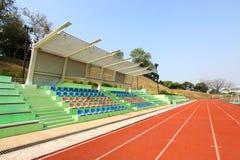 Stadium with running tracks Royalty Free Stock Photography