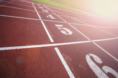Stadium running tracks Stock Images