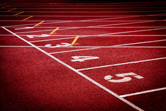 Stadium running tracks Stock Photography