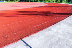 Stadium runway Royalty Free Stock Photos