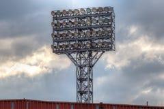 Stadium`s lighting tower. Photo of the stadium`s lighting tower with a lot of spotlights Royalty Free Stock Photo