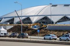 Stadium Samara arena jest w budowie Zdjęcia Stock