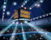 Stadium scoreboard goal display 3D Stock Images
