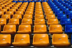 stadium seat Royalty Free Stock Photo