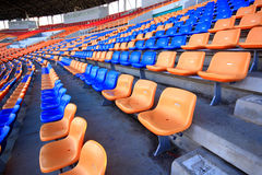 Stadium and seat Royalty Free Stock Photos