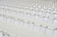 Stadium seat assemble Stock Images