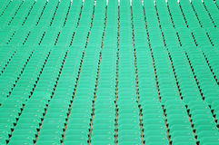 Stadium seat in green Stock Images
