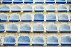 Stadium seat. Sport and fitness Royalty Free Stock Image