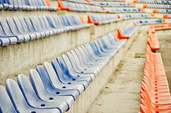 Stadium seat. Sport and fitness Royalty Free Stock Photos