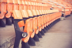 Stadium and seat Royalty Free Stock Images