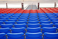 Stadium Seating. Blue and red stadium seating Royalty Free Stock Images
