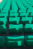 Stadium seating. Stadium chairs neatly lined with beautiful Royalty Free Stock Image