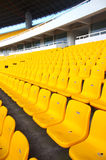 Stadium seating. Stadium chairs neatly lined with beautiful Stock Photos