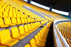 Stadium seating. Stadium chairs neatly lined with beautiful Royalty Free Stock Photos