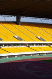Stadium seating. Stadium chairs neatly lined with beautiful Royalty Free Stock Images