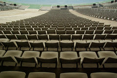 Stadium Seating. Abstract view of stadium seats Royalty Free Stock Photos