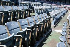 Stadium Seating. This image shows rows of empty seats in a stadium Stock Images