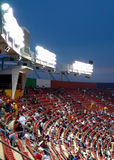Stadium seating at Night Game Royalty Free Stock Images