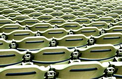 Stadium seating pattern Stock Photo