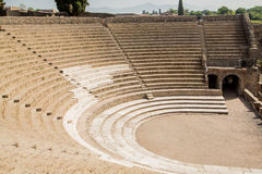 Stadium Seating in Pompeii Royalty Free Stock Photos