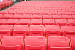 Stadium Seats. Red seats in Beijing Worker's Stadium Stock Images