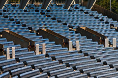 Stadium seats. Empty blue seats in a stadium royalty free stock images
