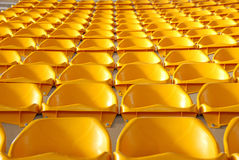 Stadium seats. Empty stadium seats awaiting the spectators Stock Photography