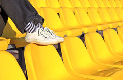Stadium seats Stock Images