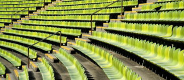 Stadium Seats. Architect Guenther Behnisch and structural engineer Frei Otto created a visually interesting and unique stadium for the Munich Olympic Games royalty free stock photo