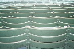 Stadium Seats. Abstract rows of empty seats Royalty Free Stock Images