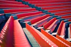 Stadium seats #2. Empty football stadium seats lined up in perspective Stock Photo