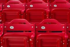 Stadium seats. Grand stands of red stadium seats Stock Photography