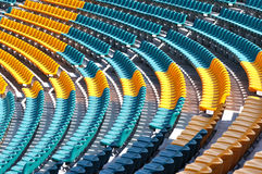 Stadium seats Royalty Free Stock Photos