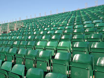 Stadium Seats. Empty Seats at an Outdoor Stadium Royalty Free Stock Images